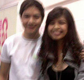 A blurred photo of Alden and Maine supposedly taken in 2010 at a Candy event. (Photo from Twitter)