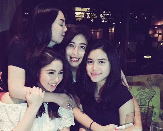 Claudine Barretto with her nieces Dani, Julia and Claudia (Photo from Dani's official Instagram account)