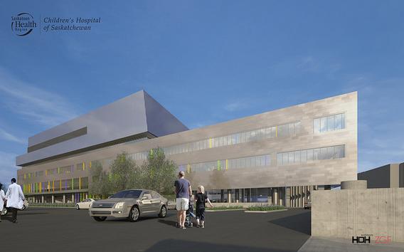 The exterior design of the Children's Hospital of Saskatschewan (Photo from the Saskatoon Health Region)