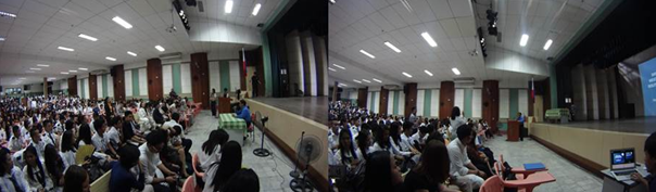 DFA Spokesperson Charles Jose engages the students from St. Paul University during the open forum (Contributed photo)