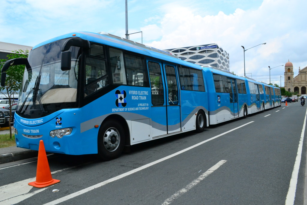 Pinoy-made Hybrid Electric Road Train (Contributed photo)