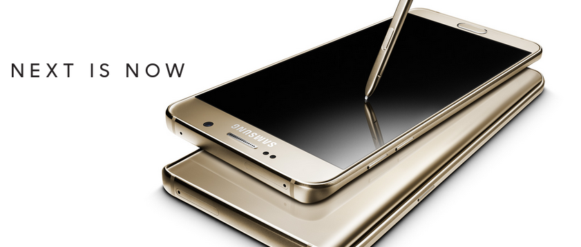 Galaxy Note 5 (Photo from Samsung)