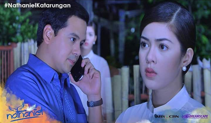 "John Lloyd Cruz and Shaina Magdayao at ""Nathaniel"" (Photo from John Lloyd's official Facebook page)"