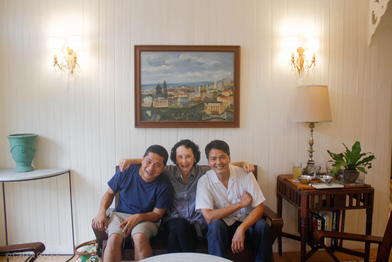Owner Jon Ramos (left) with friends Vicky Herrera and Simon Balboa