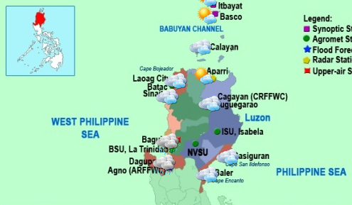 Northern Luzon weather map (Photo from PAGASA)