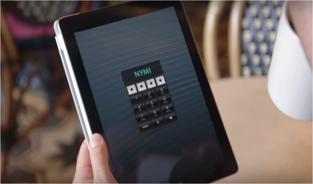 Nymi, a wristband that operates like a virtual key that you wear on your wrist. (Screengrab from Nymi's video)