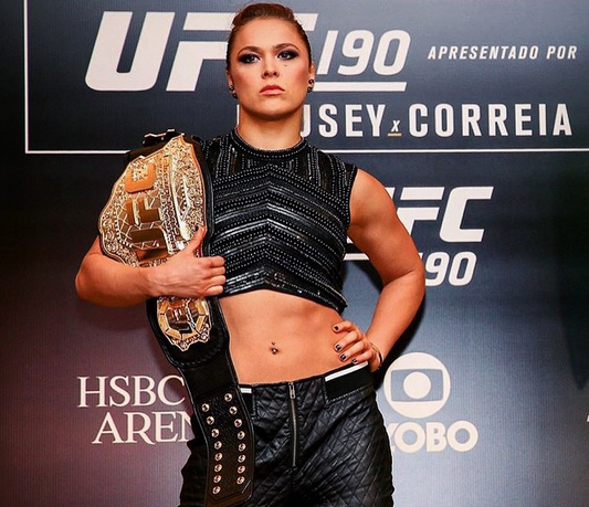 UFC fighter Ronda Rousey (Photo from Rousey's official Instagra account)