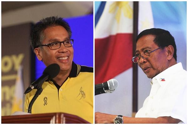 Interior Secretary Mar Roxas (left) and Vice President Jojo Binay (Facebook photos)