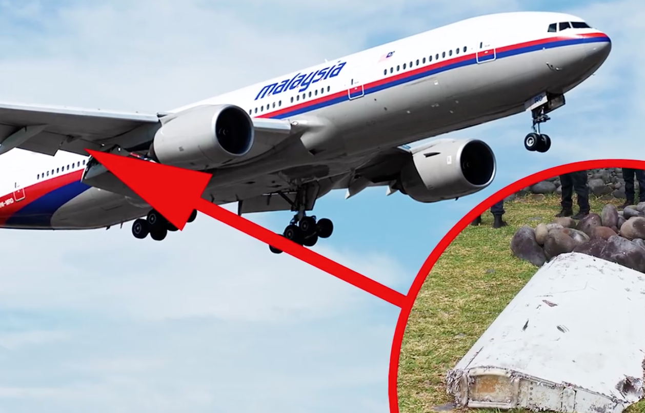 Could it be the flaperon from Malaysia Airlines Flight 370? (Screenshot from TOMONews.net)