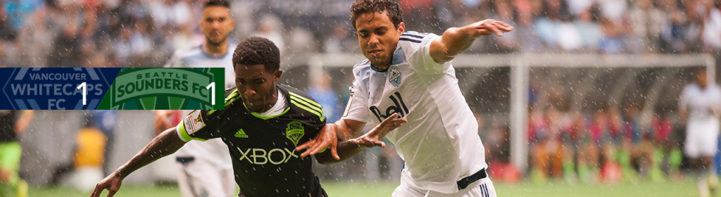 The Vancouver Whitecaps  and the Seattle Sounders played to a 1-1 draw in the CONCACAF Champions League. (Photo from the Whitecaps)