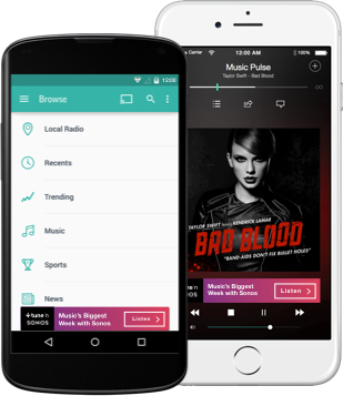TuneIn, an app that lets its users listen to over 100,000 live radio stations, plus on-demand content like podcasts and shows anywhere they go. (Photo from TuneIn)