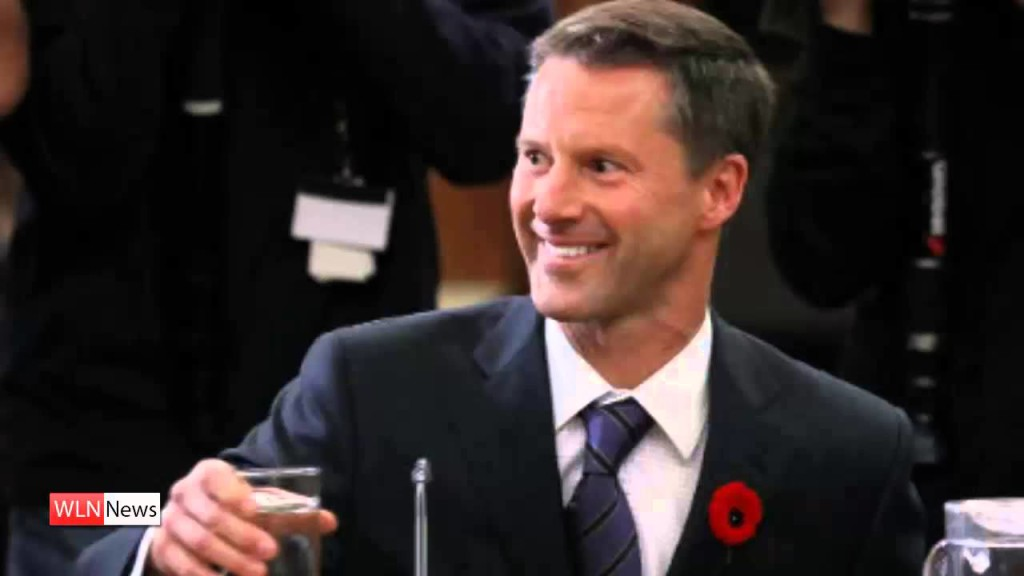 PM Stephen Harper's former Chief-of-Staff Nigel Wright (screenshot from WLN News footage)