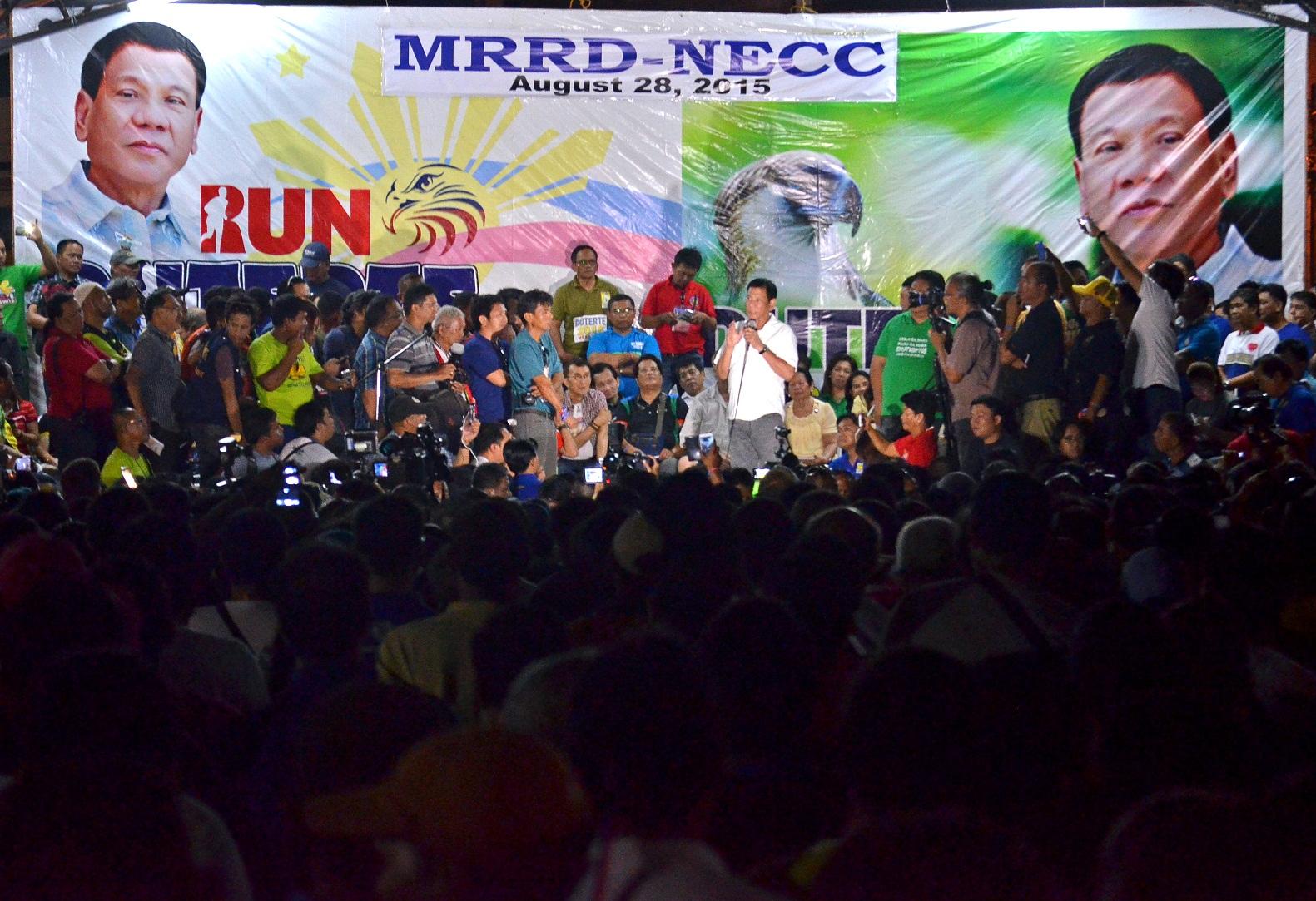 RUN DUTERTE: More people are urging Davao City Mayor Rodrigo Duterte to run for president in 2016 (PNA photo)