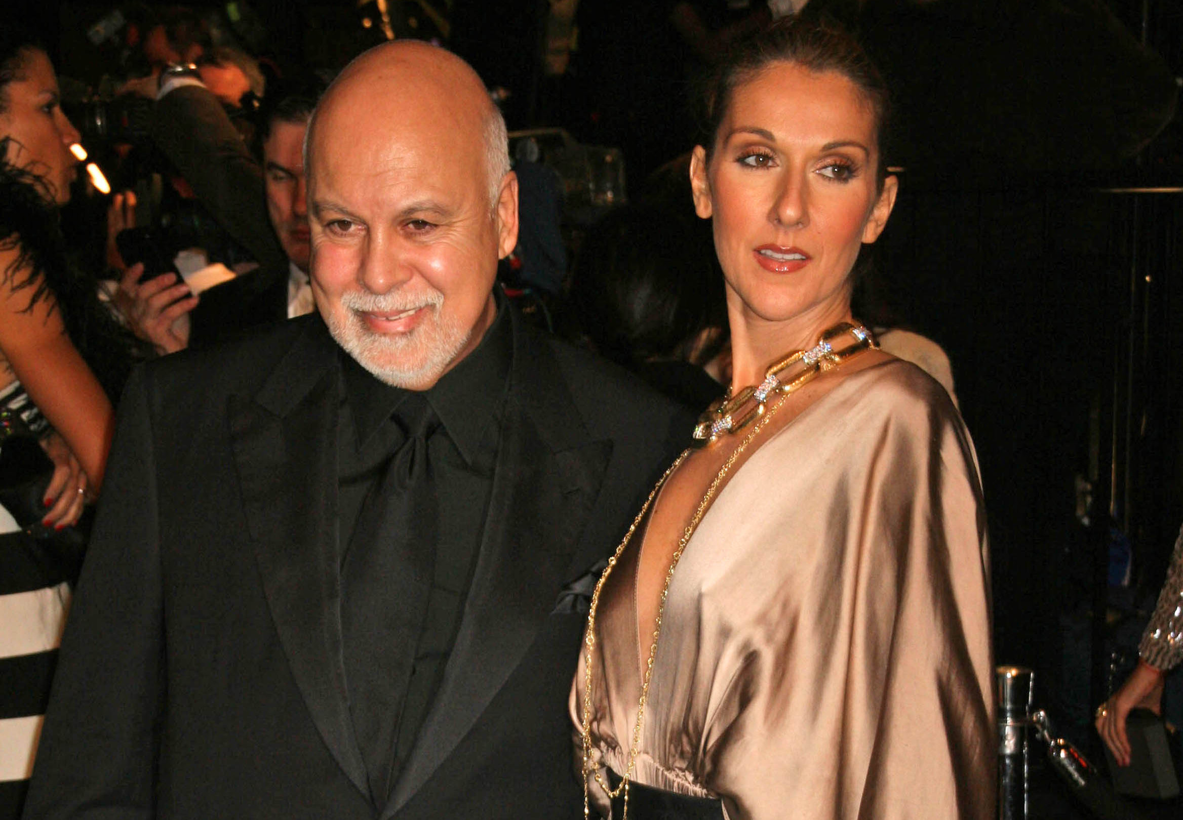 Rene Angelil and Celine Dion at the 2007 Vanity Fair Oscar Party. Mortons, West Hollywood (S_Buckley / Shutterstock)
