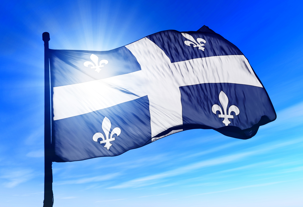 FILE: Flag of Quebec (Shutterstock)