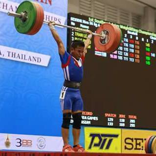 Zamboangueño weightlifter Nestor Colonia (Photo from Colonia's Facebook account)