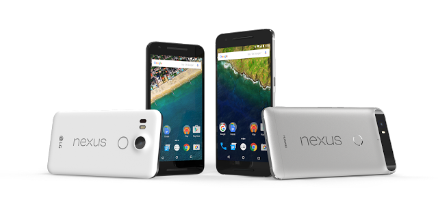 Nexus 5X and Nexus 6P (Photo from Google's official blog)