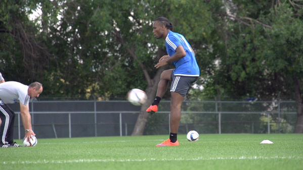 Didier Drogba (Photo from Drogba's official Twitter account)