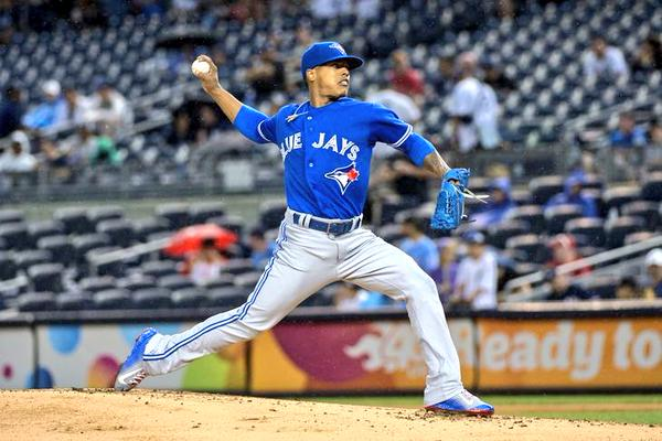 Toronto right-hander Marcus Stroman seeks his fourth win in four starts since returning from a spring training knee injury. (Photo from Stroman's official Twitter account)