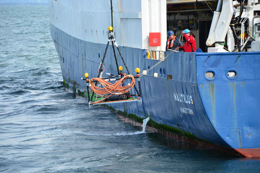 An underwater listening station was launched to better understand the impact of ship noise on at-risk whales. (Photo from Port Metro Vancouver)