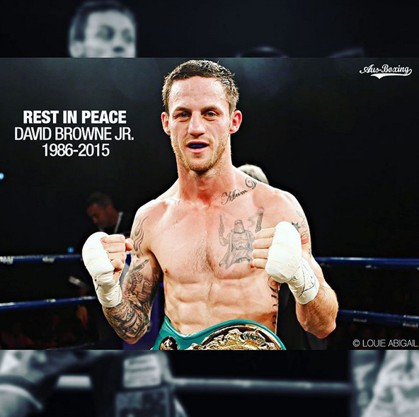 David Browne Jr. (Photo from Aus-Boxing.com's Instagram account)
