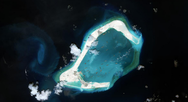 Zamora (Subi) Reef (Photo from the Asia Maritime Transparency Initiative)
