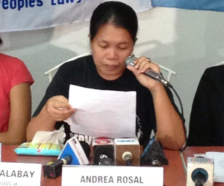Andrea Rosal freed (Photo courtesy of 'Free Andrea Rosal Movement' on Facebook)