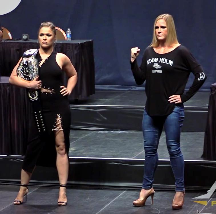 UFC champ 'Rowdy' Ronda Rousey and Holly Holm (Facebook)