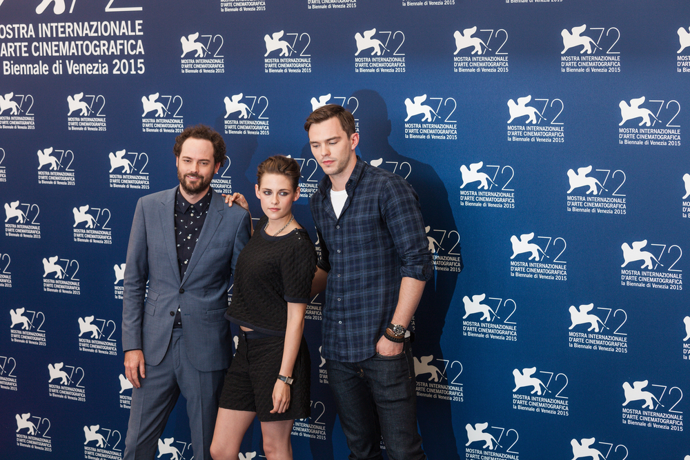 Kristen Stewart, Drake Doremus and Nicholas Hoult attend a photocall for 'Equals' during the 72nd Venice Film Festival at Palazzo del Casino ()taniavolobueva / Shutterstock
