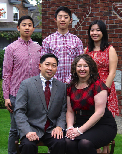 Family Photo: Crown Counsel Winston Sayson with wife Barbara Lisa and children Vincent, Brandon, and Kimberly.