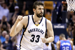 Grizzlies' Marc Gasol. Scored scored eight of his team-high 20 points and Jeff Green scored half of his 12 points that made the Grizzlies to 112-103 victory over Pacers (Photo from the internet)