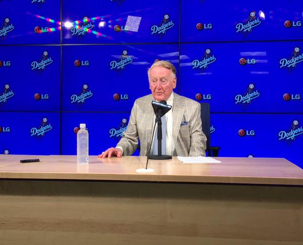 Vin Scully (Photo from Scully's Twitter account)