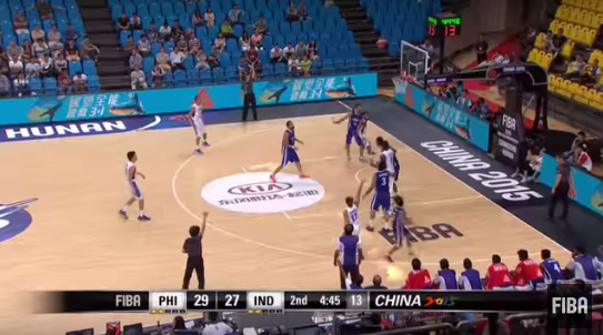 Gilas Pilipinas was onto a rough start but was able to bridge the gap early on the second quarter. (Screengra from FIBA's video)
