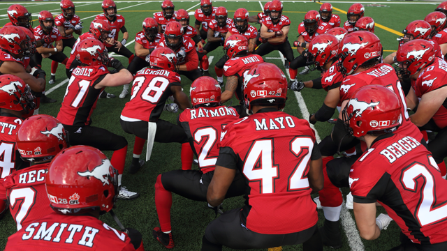 The Calgary Stampeders are the first team to clinch a position in the 2015 Canadian Football League playoffs. (Photo from the Stampeders' website)