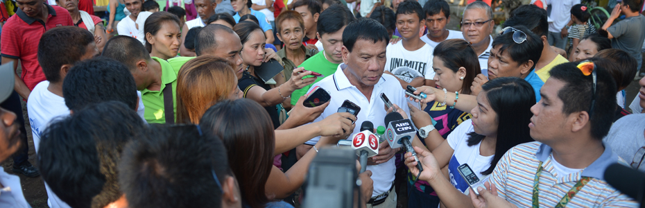 "Davao Mayor Rodrigo ""Rody"" Duterte seeks reelection. (Photo from Duterte's official website)"