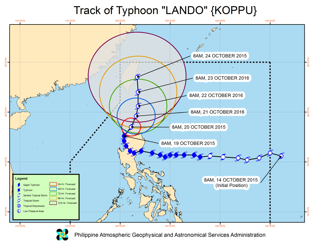 Tropical cyclone update from PAGASA