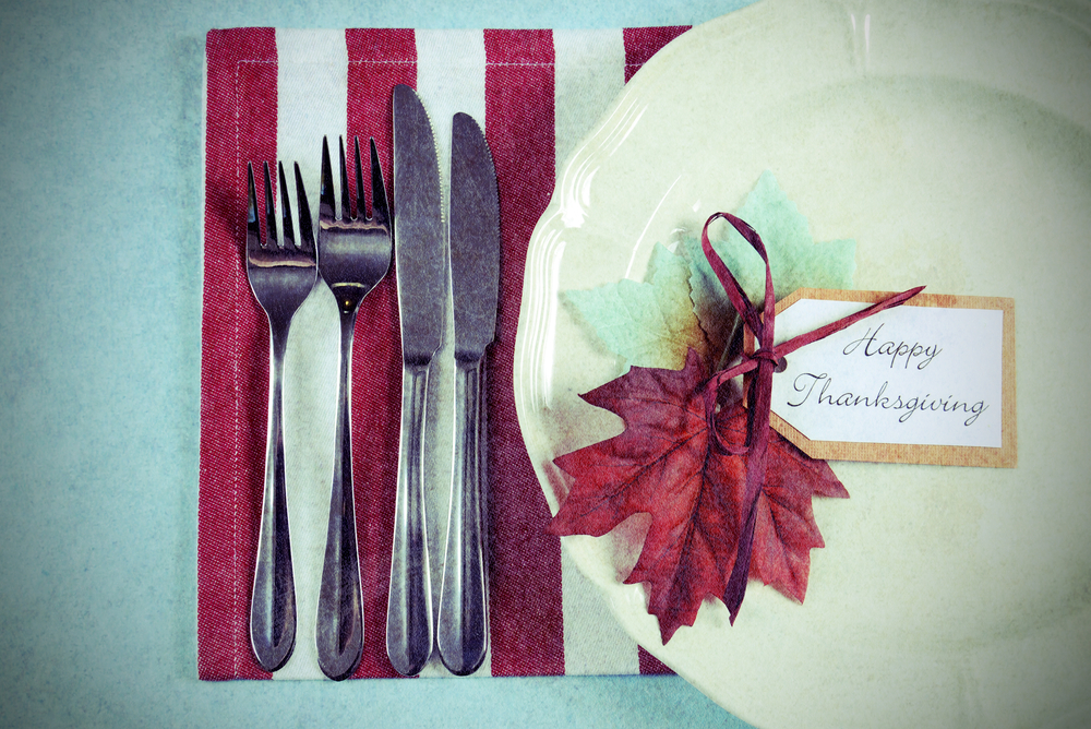 HAPPY THANKSGIVING! (shutterstock)