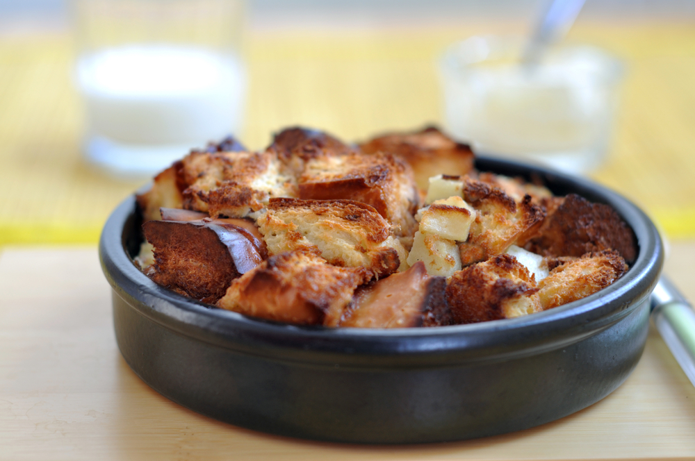 A savoury bread pudding?! Yes, please!