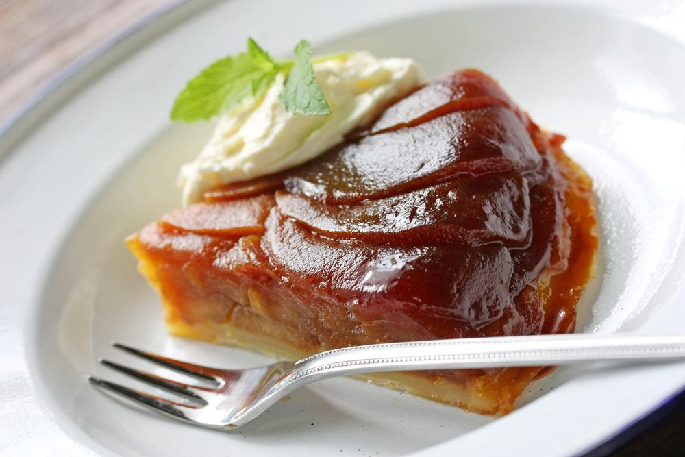 Caramel Upside-Down Apple Cake