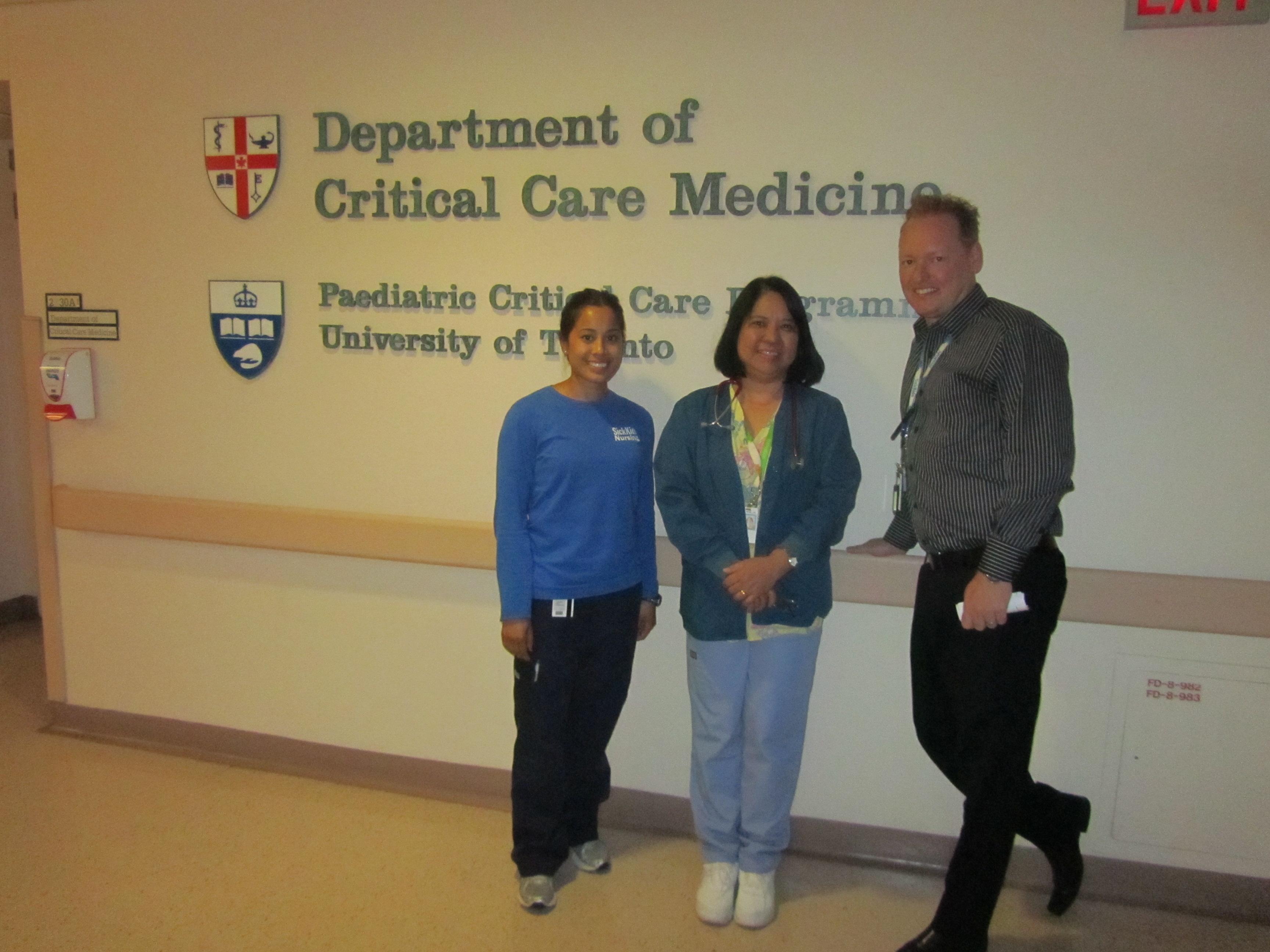 Rowena Zamora with colleagues, Elisa Cercado and Craig Campbell