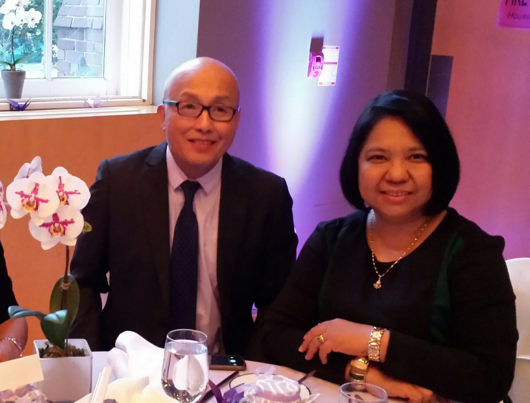 Husband and wife, Rowena and Virgilio Zamora