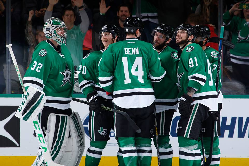 The victory avenged Dallas' 3-2 shootout loss to the Blues in St. Louis on Saturday night. The Stars have a league-best 57 points, and Dallas and Washington are the only teams that have not lost consecutive games this season.