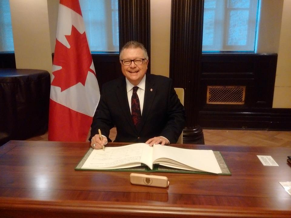 Public Safety Minister Ralph Goodale proposes a bill that would give RCMP right to collective bargaining (Photo taken from Ralph Goodale's official Facebook fan page)