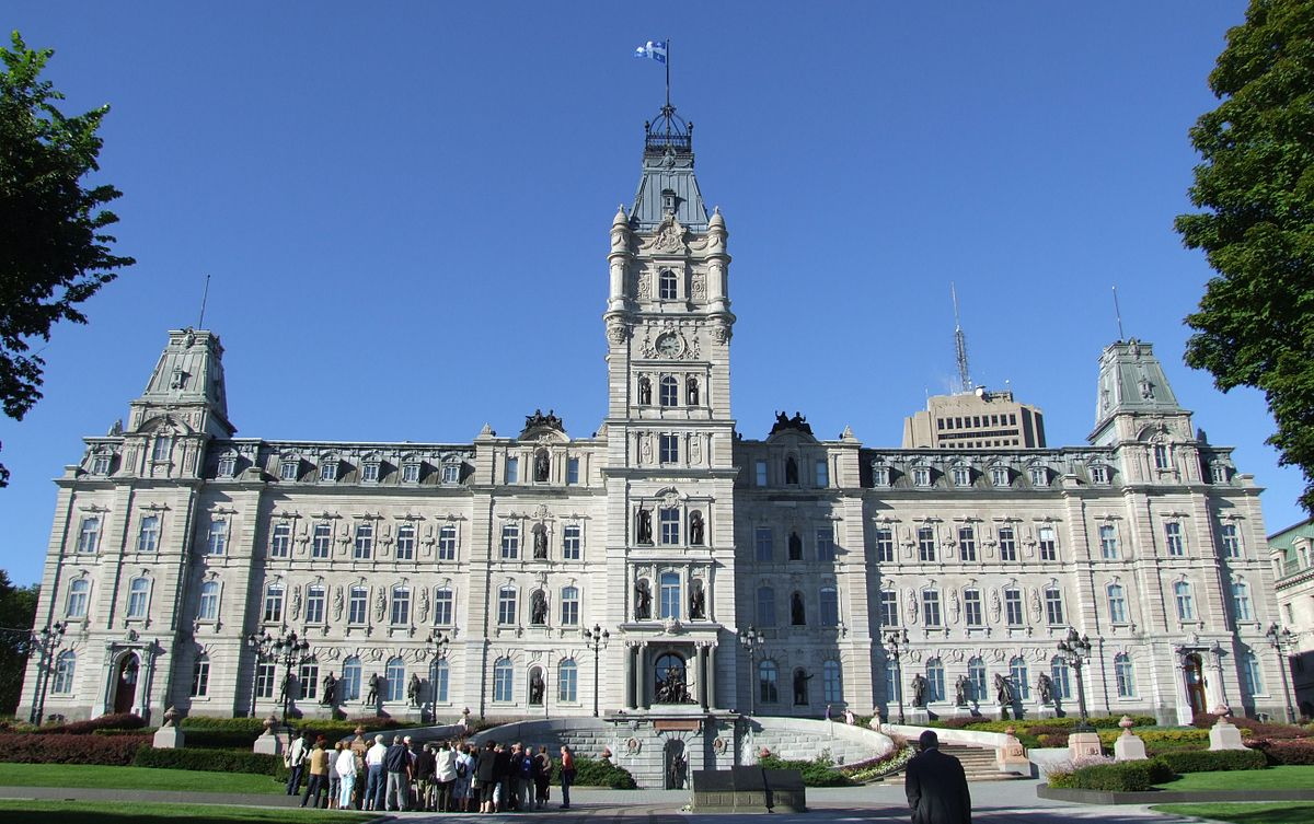 The Parliament building in Quebec (Photo from Wikipedia)