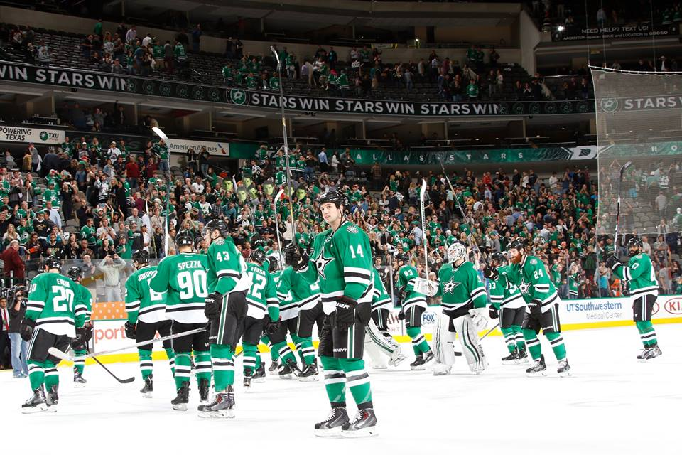 Dallas Stars beat Carolina Hurricanes 6-5 with Patrick Sharp's power play (Photo taken from Dallas Stars' official Facebook fan page)