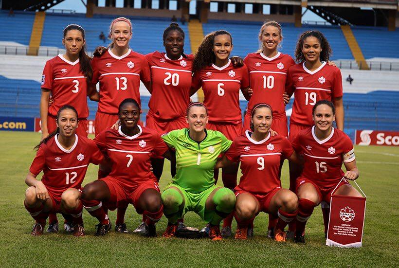 The Canada women's national soccer team. (Photo from Wisconsin Women's Soccer's official Facebook page)