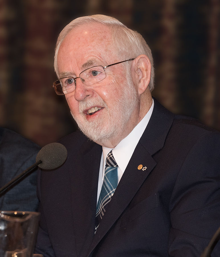 Canadian Scientist and Nobel Pirze awardee, Arthur B. McDonald (Photo from Bengt Nyman/ Wikipedia)