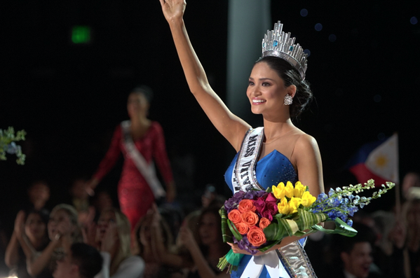 Miss Universe 2015 Pia Alonzo Wurtzbach (Photo from Miss Universe's official Twitter account)