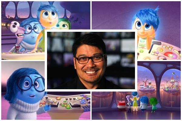 "Filipino director Ronnie ""Pixnoy"" del Carmen says helping create ""Inside Out"" was a dream come true. (Photo taken from Wikipedia and Facebook, edited by the Philippine Canadian Inquirer"