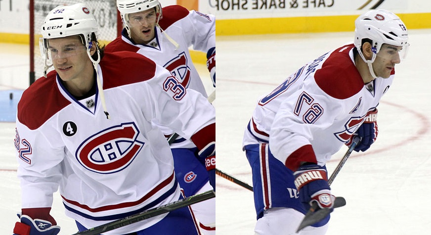 Brian Flynn (left) and Max Pacioretty (right) (Photo from Wikipedia)